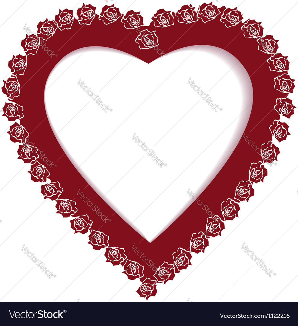 valentine border with roses royalty free vector image