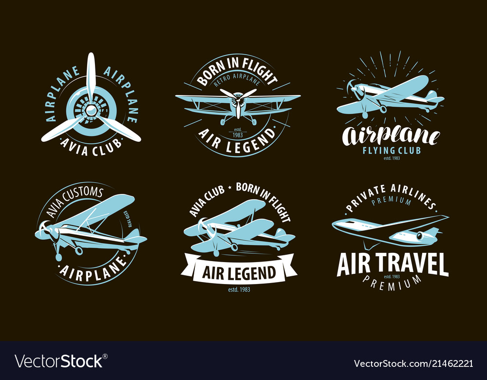 Aircraft airplane logo or label airline symbol