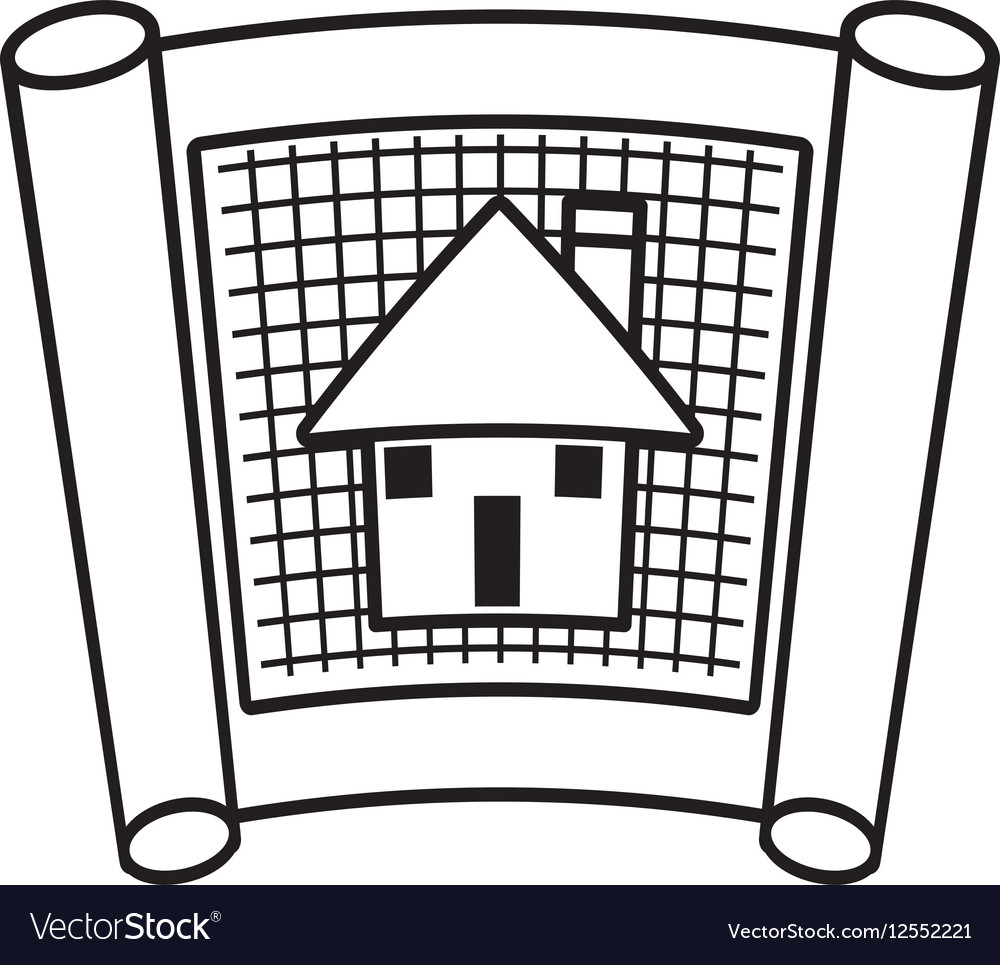 Architecture plans building structure outline