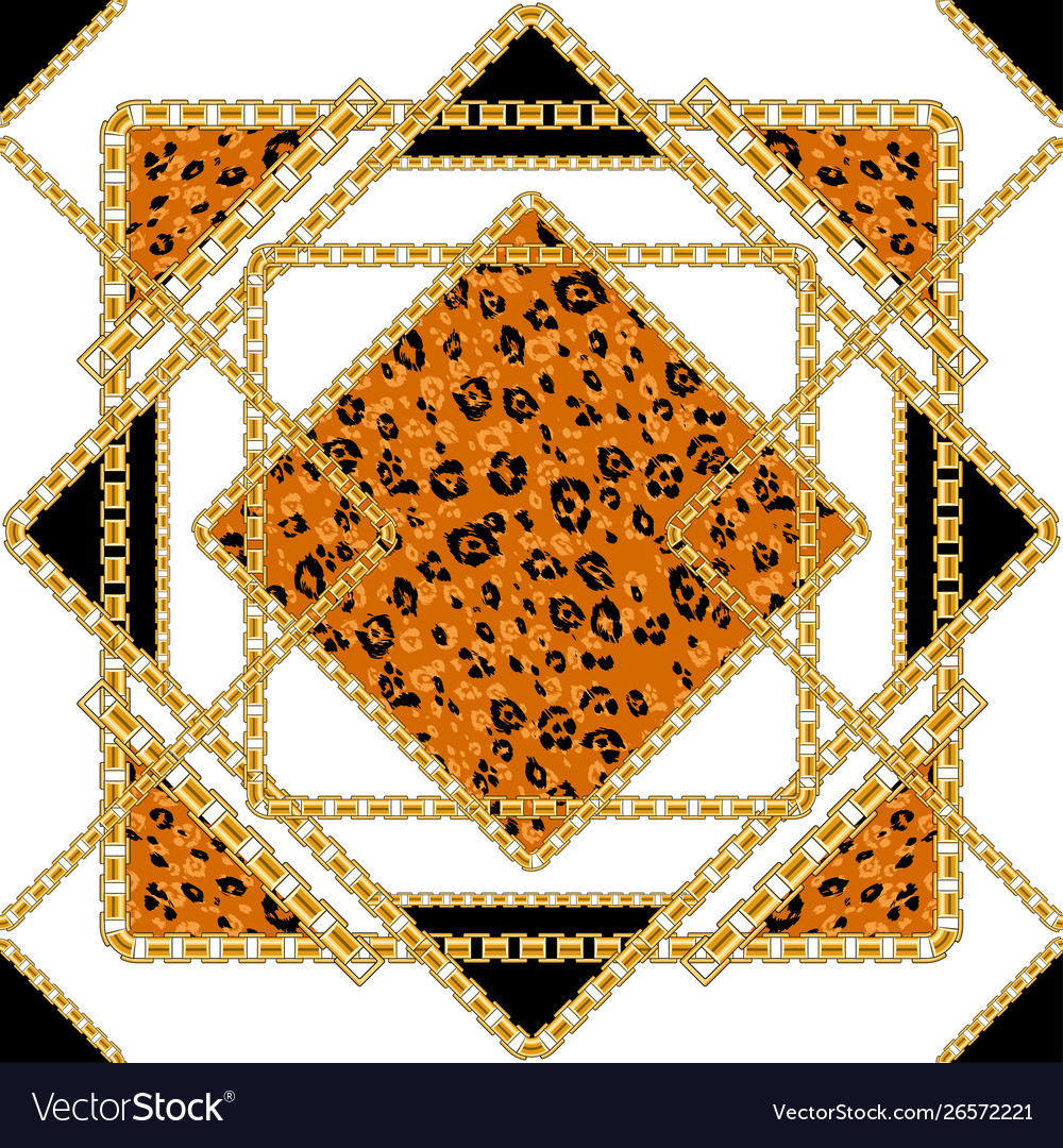 Black and gold leopard isolated