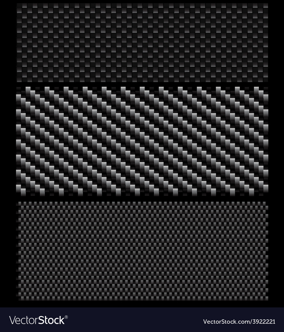 Carbon pattern set vector image