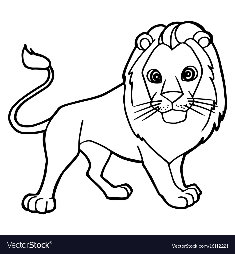 Lion Outline For Colouring : Here presented 33+ lion outline drawing images for free to download, print or share.