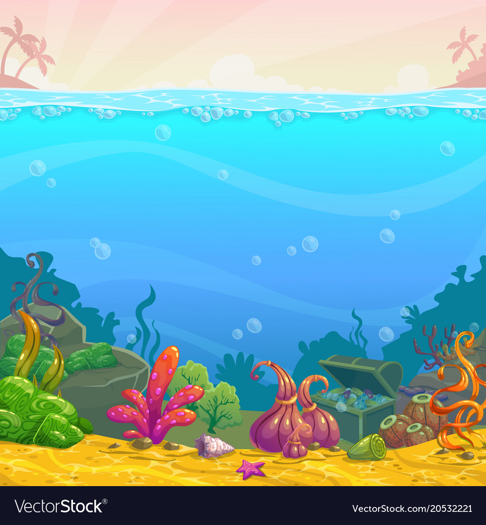 Cartoon underwater background
