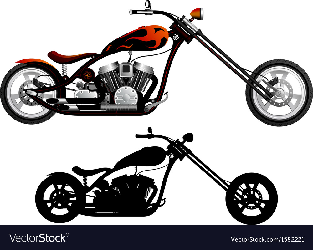 motorcycle royalty free vector image vectorstock rh vectorstock com motorcycle vector bundle commercial license motorcycle vector clip art