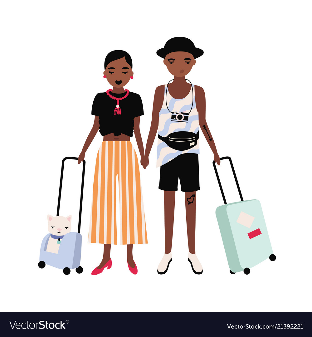 Pair of african american boy and girl dressed in
