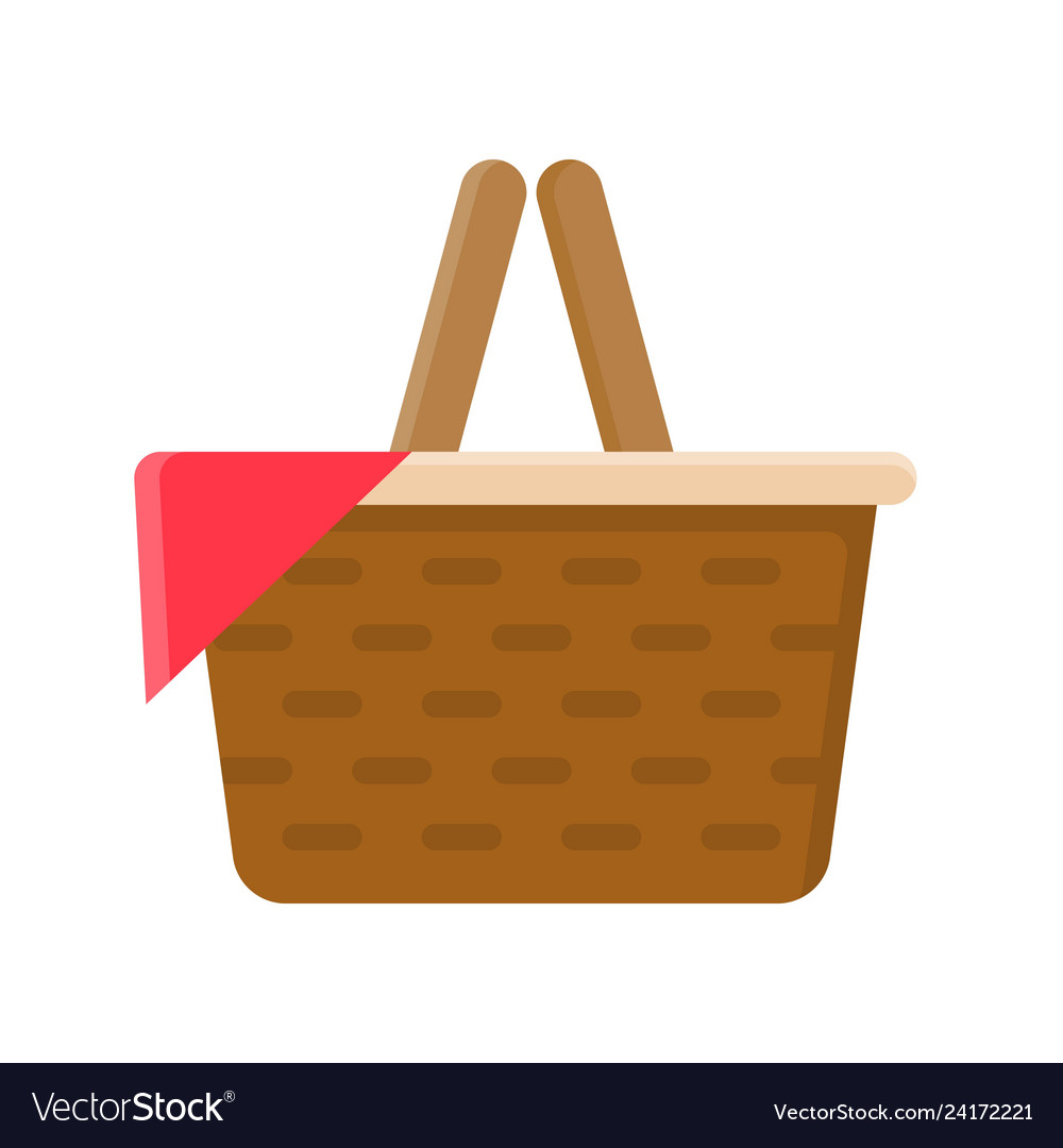 Isolated picnic basket design Royalty Free Vector Image