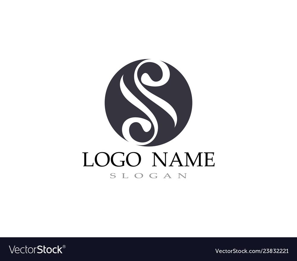 S logo line template font