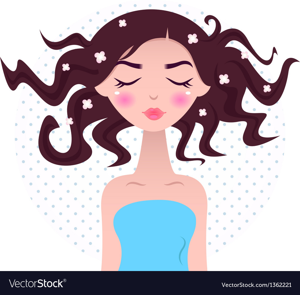 Spa woman with beautiful hair