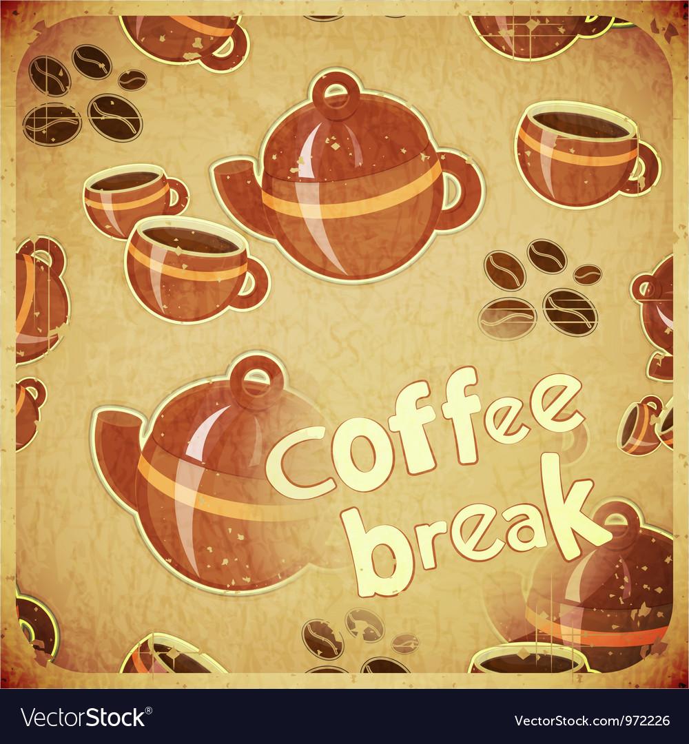 Coffee break retro