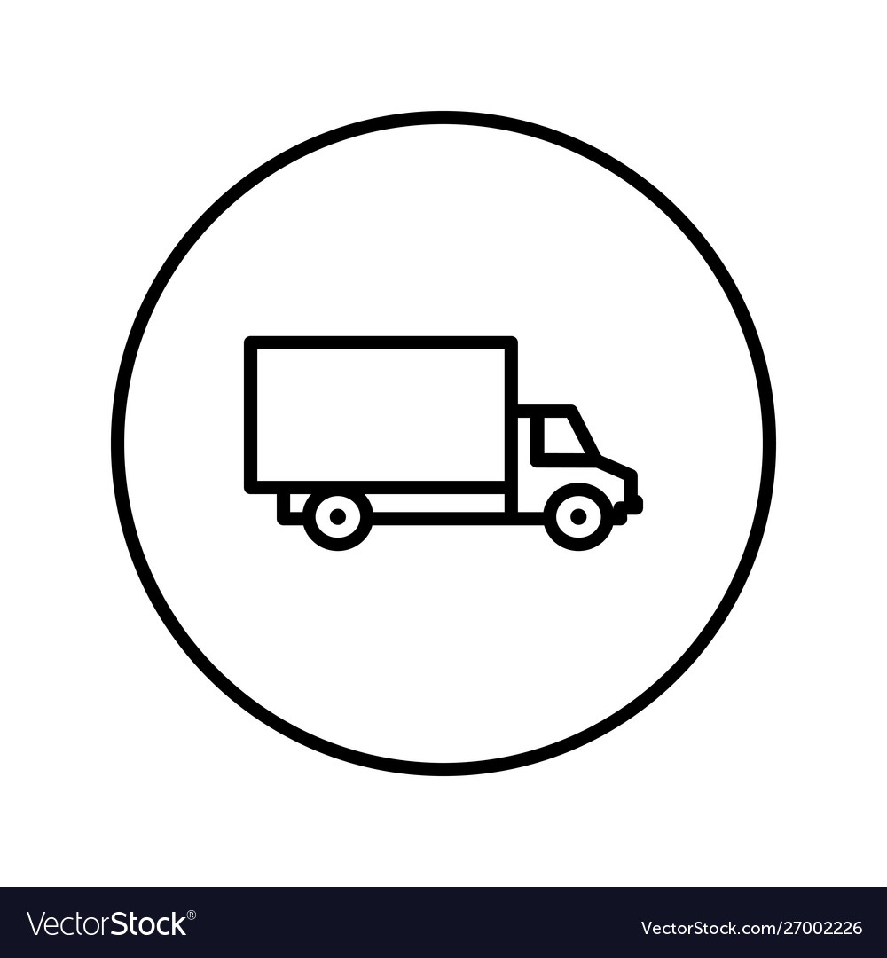Delivery truck icon editable thin line
