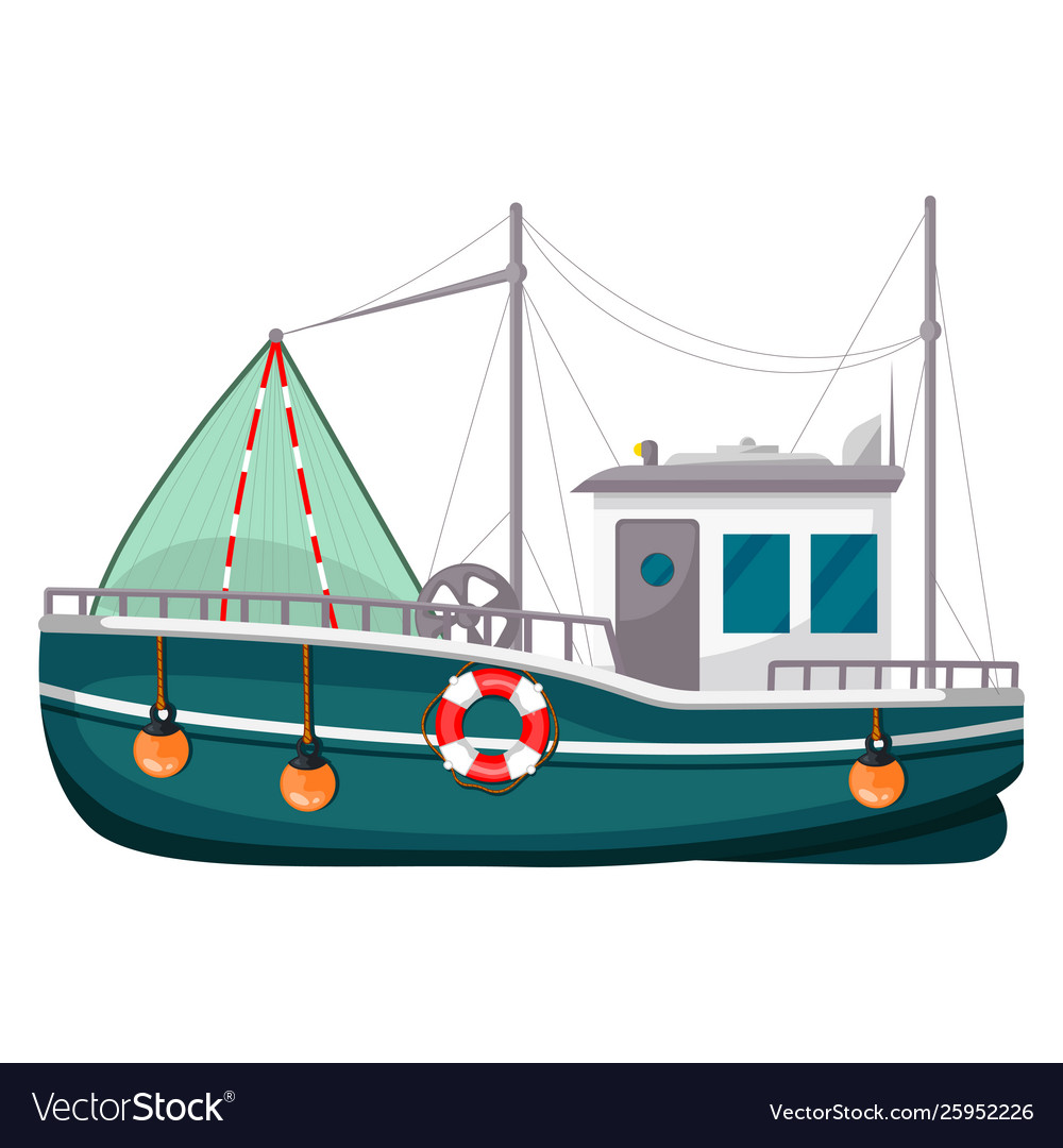 Fishing trawler commercial boat fishing vessel