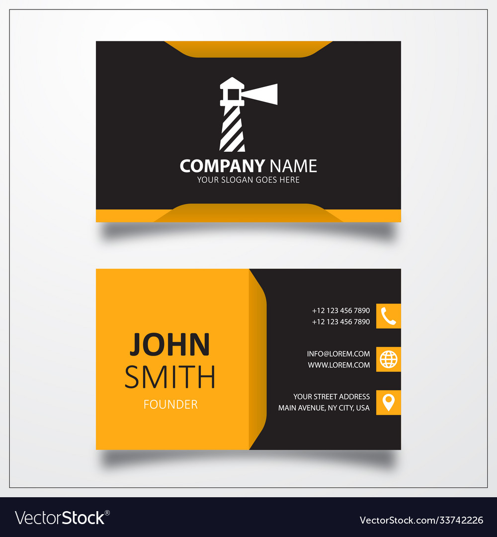 Lighthouse icon business card template
