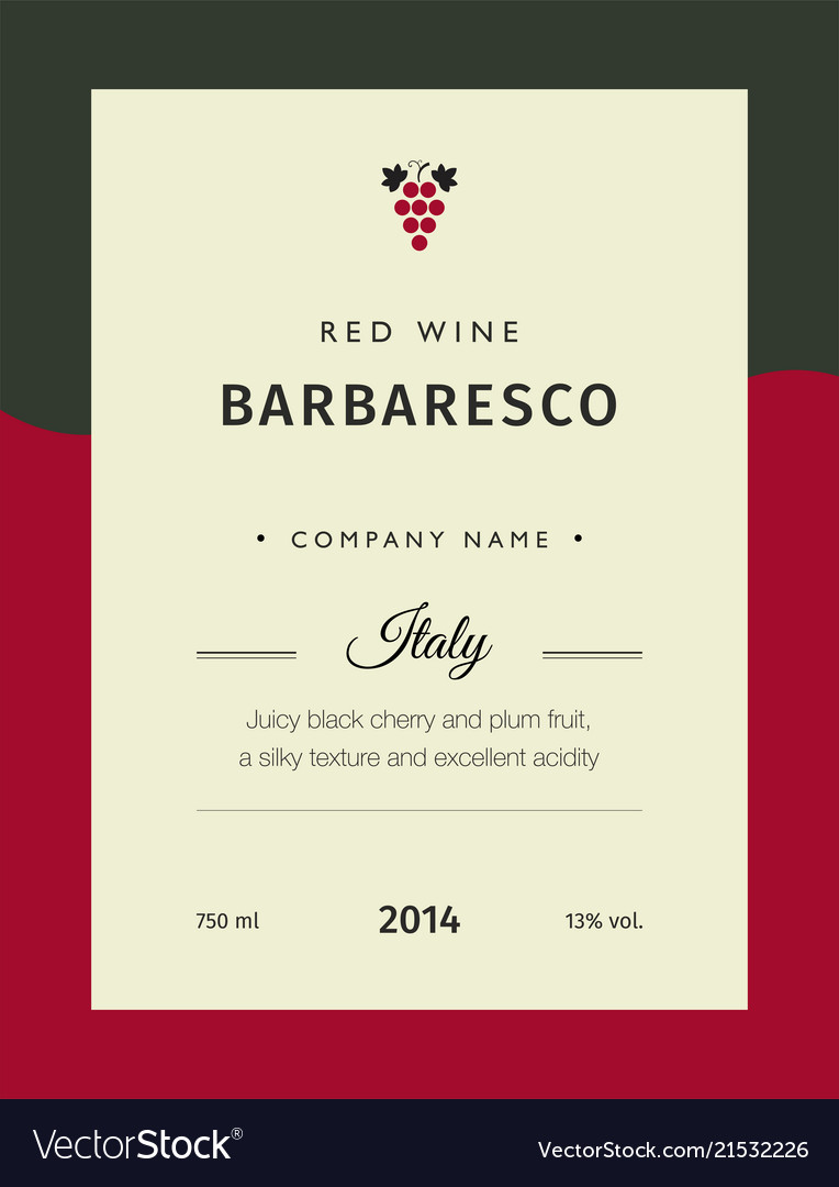red wine labels premium template set royalty free vector
