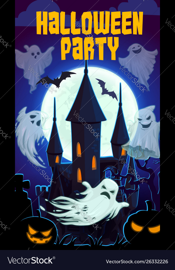 Scary castle night horrors halloween party