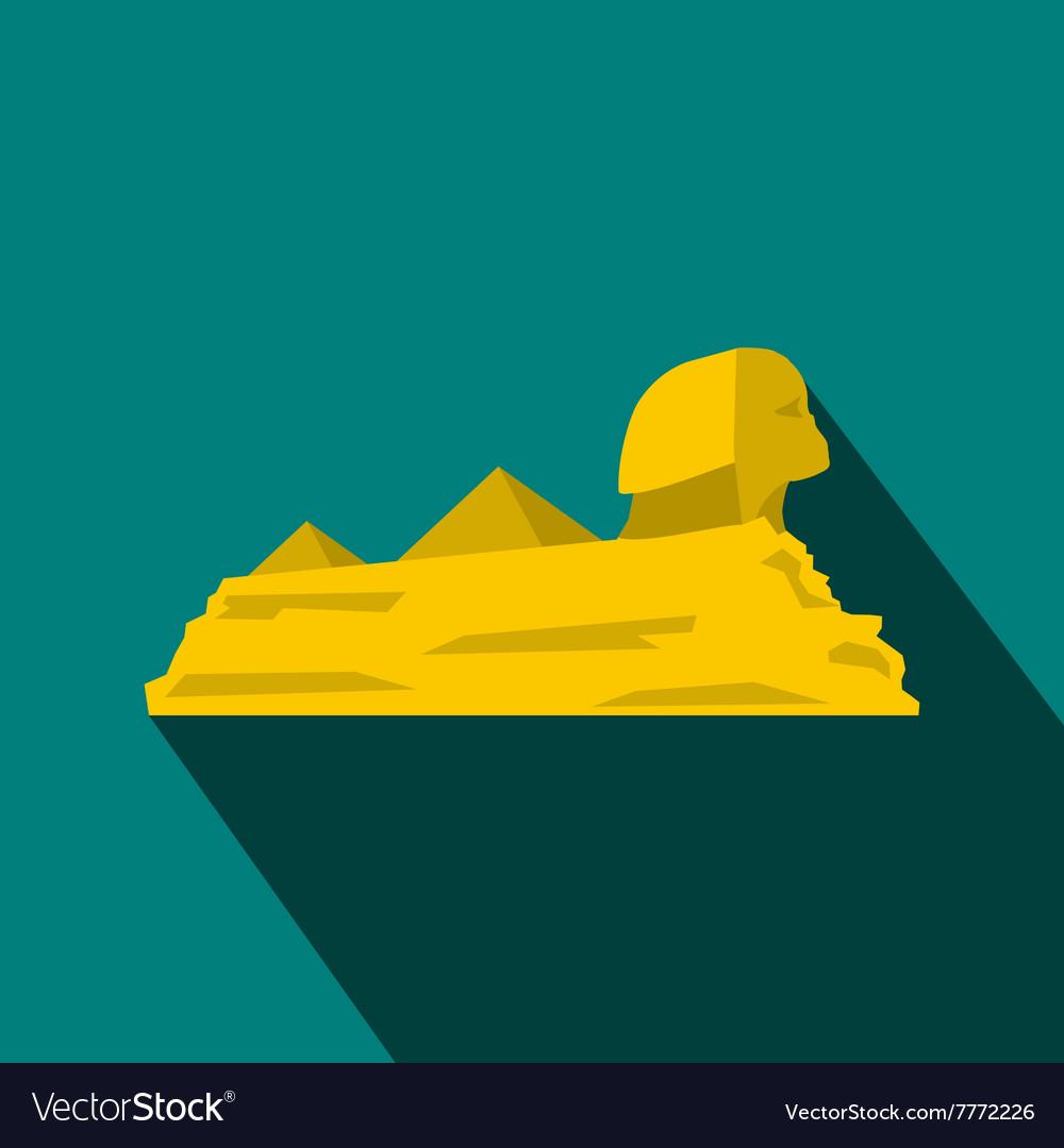 Sphinx icon flat style vector image