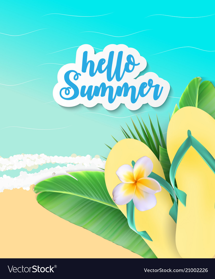 Summer time background sunny beach