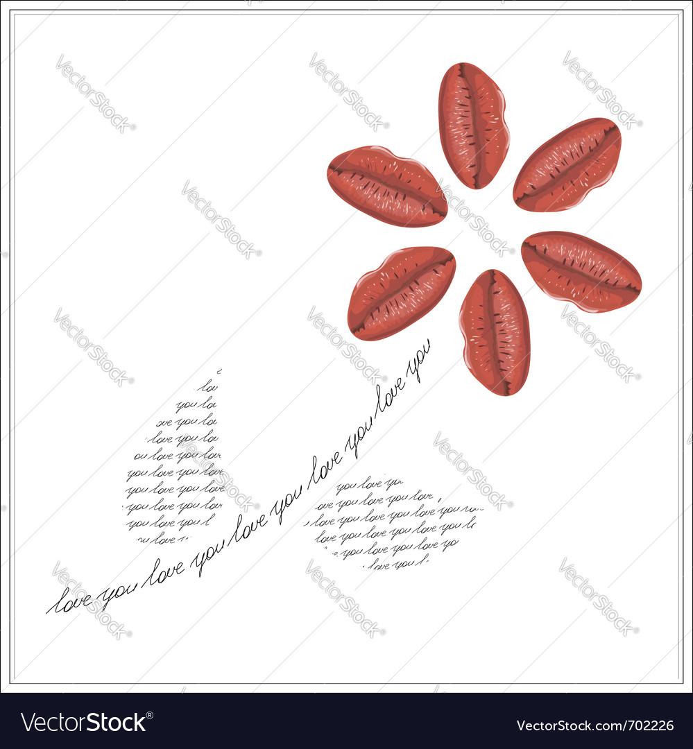 Unique valentine card vector image
