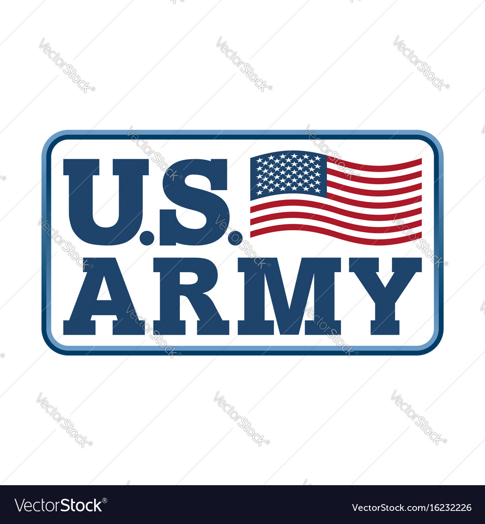 Us army emblem flag of america armed forces of