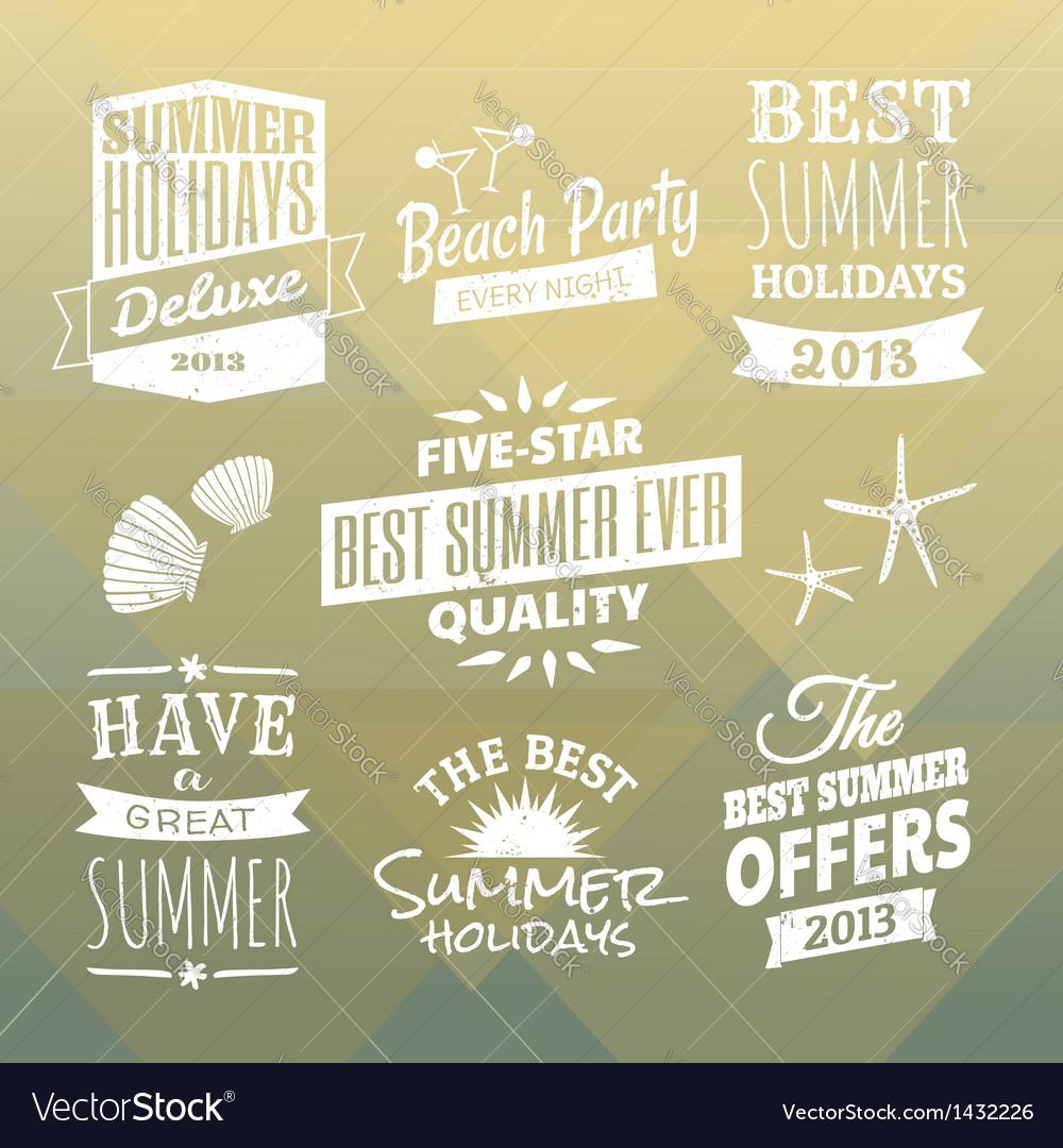 Vintage Summer Design Elements Collection