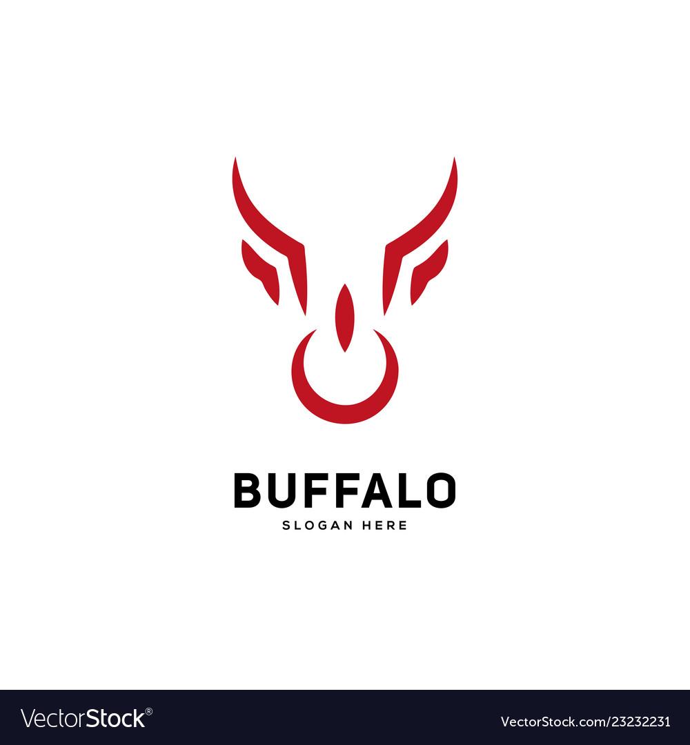 Creative and simple bull or buffalo head sign