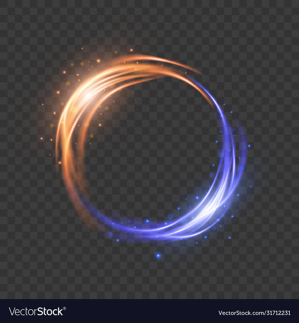 Glow light effect magic round frame