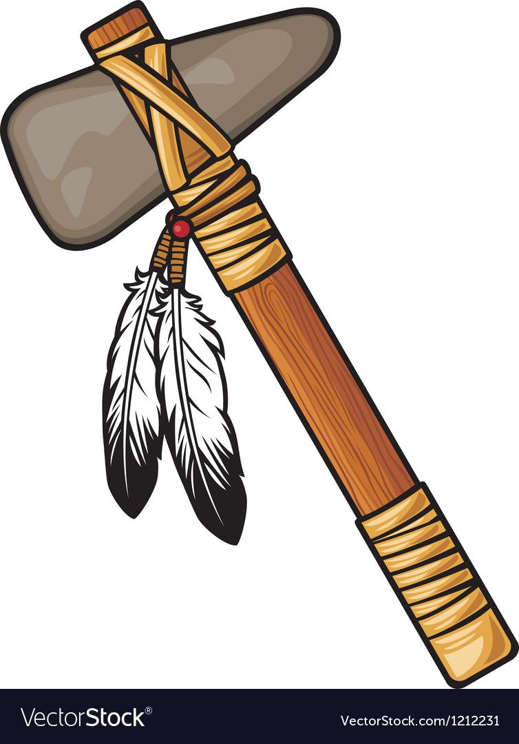 Native american tomahawk vector image