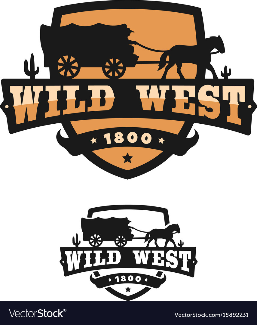 Old wild west logo of emblem