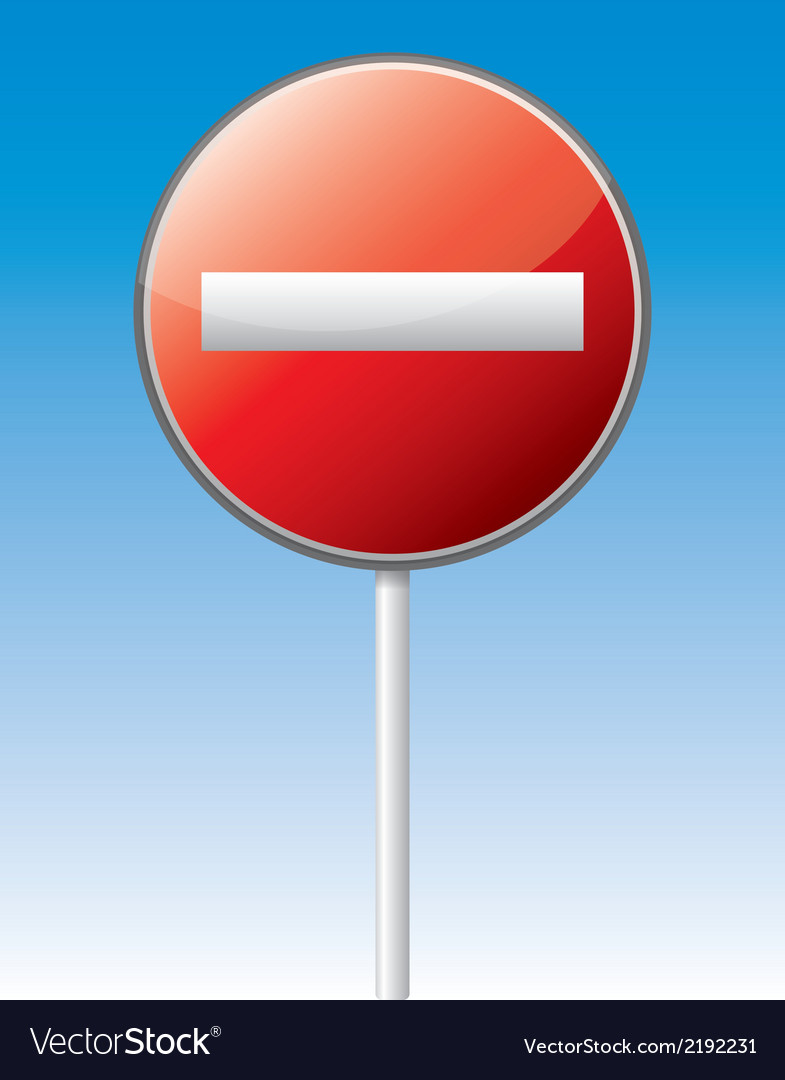 One way traffic board vector image