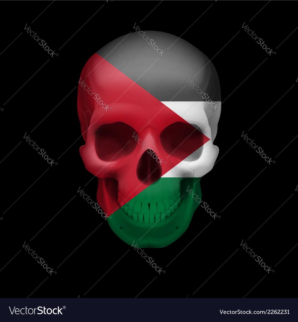 palestinian flag skull royalty free vector image