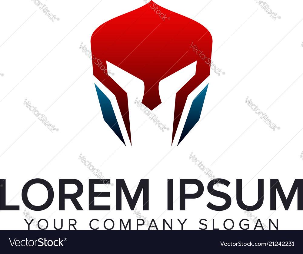 Spartan mask logo design concept template fully