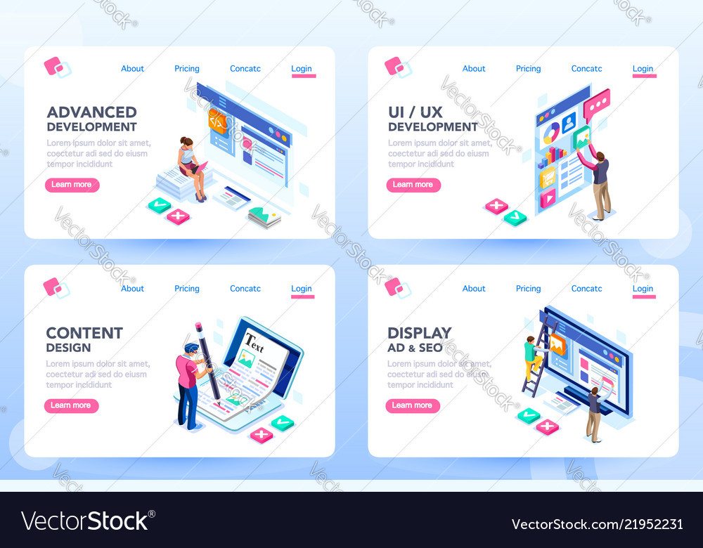 Webdesign web page templates