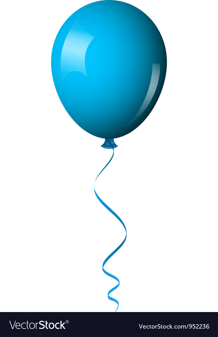 blue balloon royalty free vector image vectorstock rh vectorstock com balloon vector no background balloon vector free