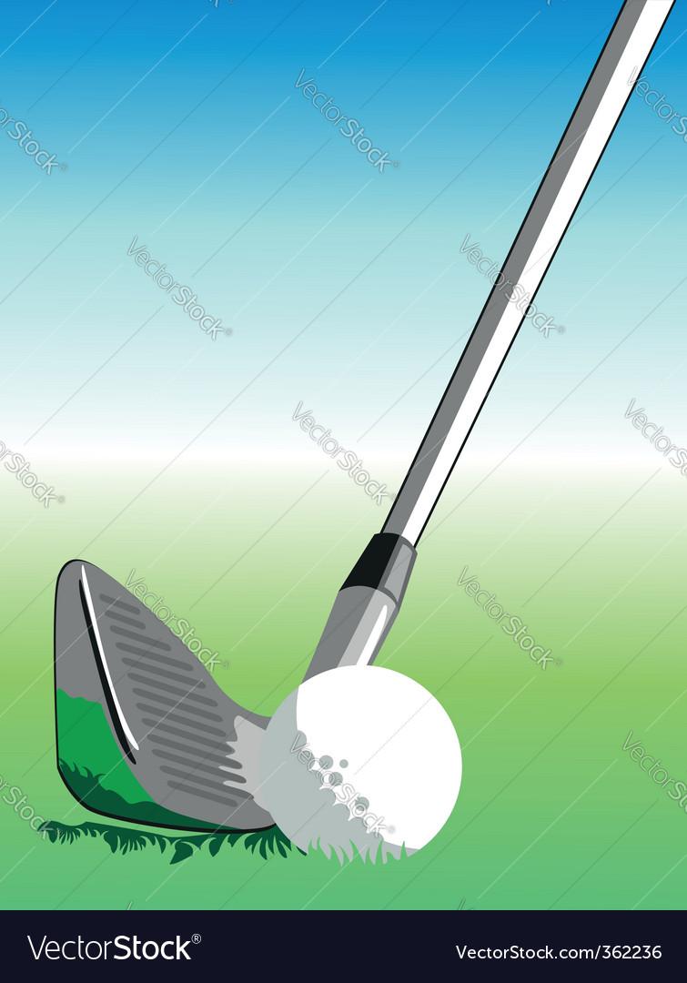 Golf illustration vector image