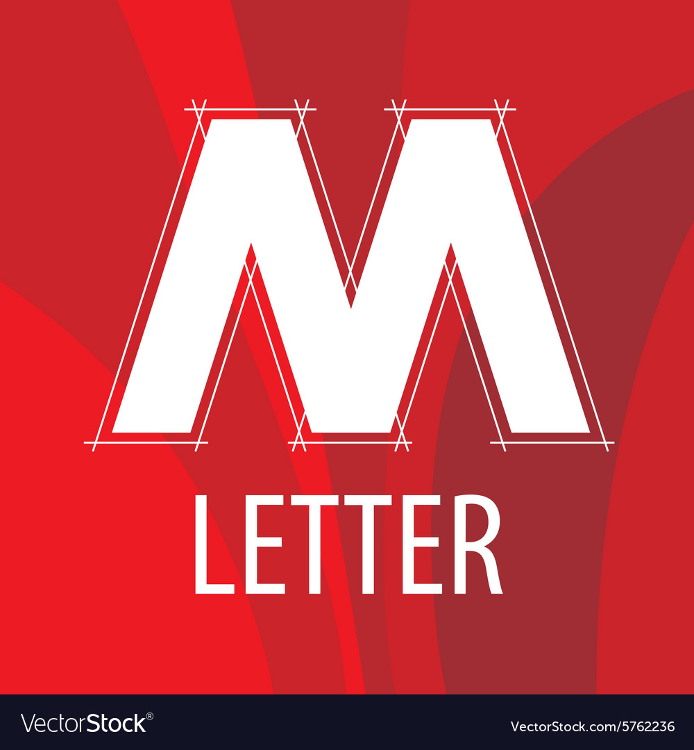 Logo the letter M in the form of a drawing