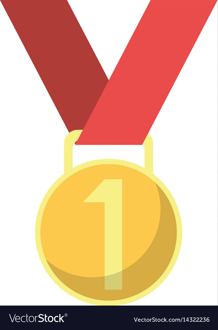Medal award winner sport vector image