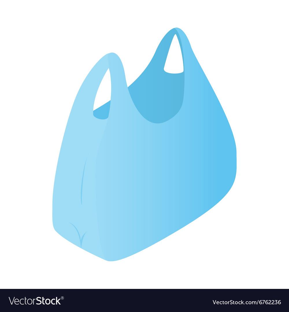 Plastic bag isometric 3d icon