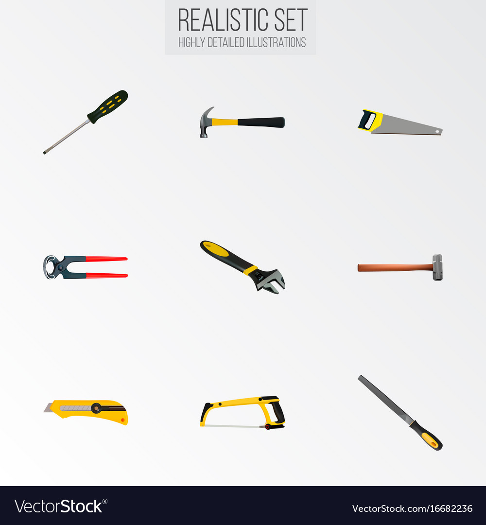 Realistic claw sharpener tongs and other vector image
