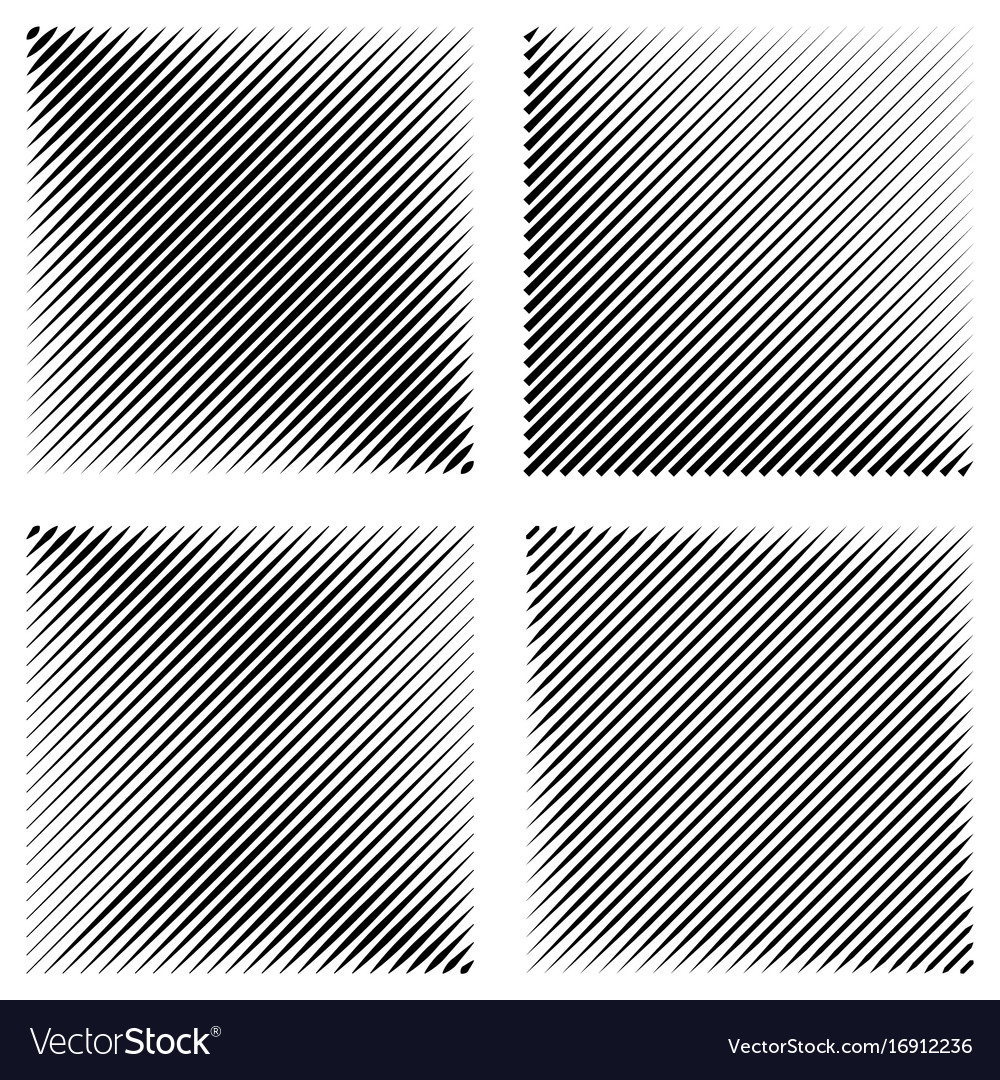 Set manga pop art background diagonal lines vector image