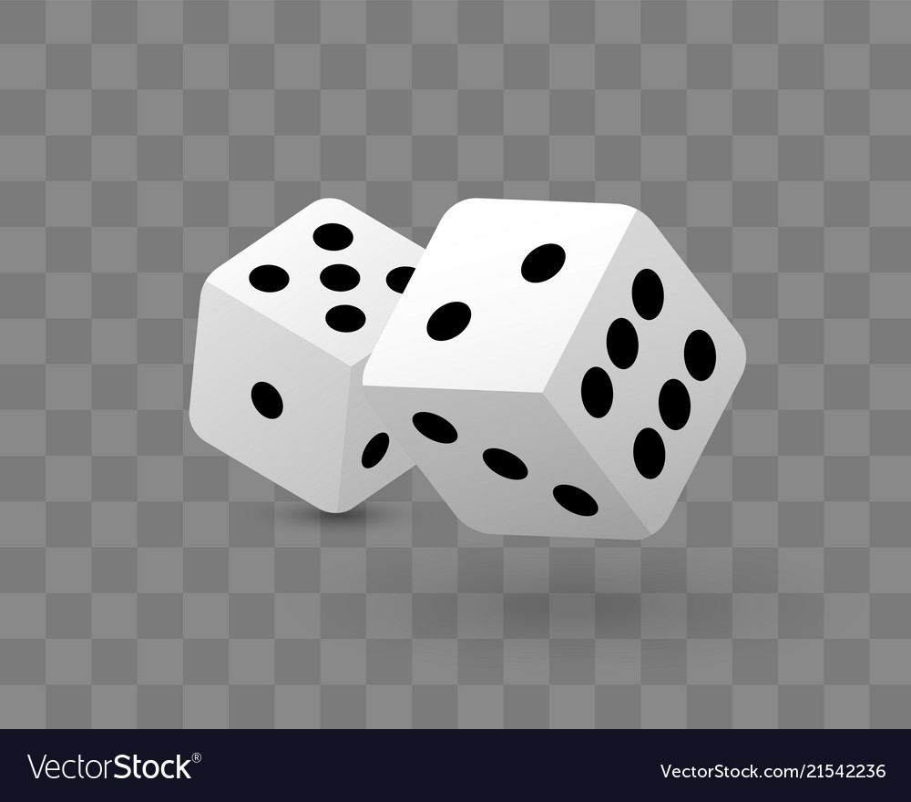 Transparent of two dice