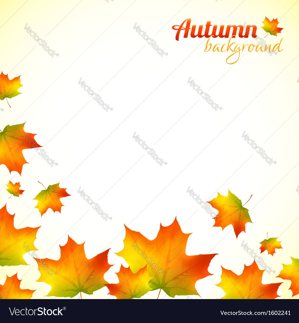 Autumn falling down foliage background