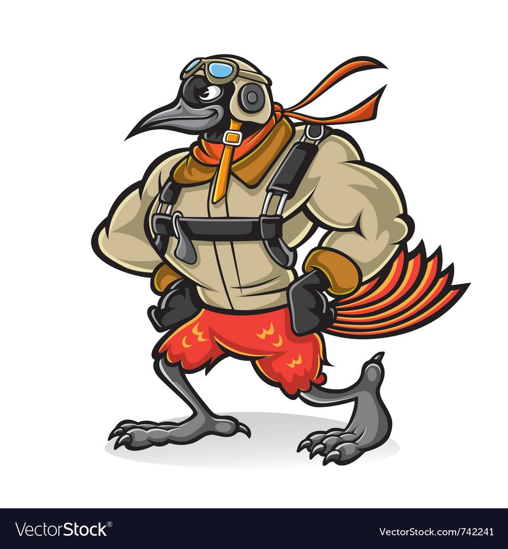 Bird gallant aviator vector image