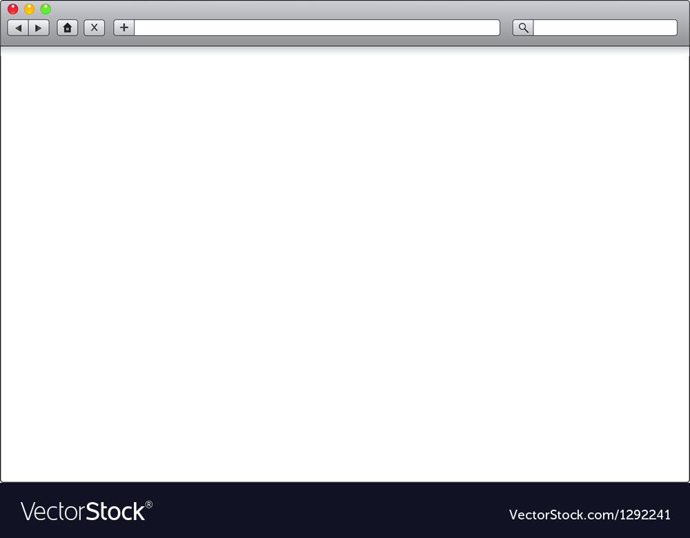 blank window of internet browser template vector image