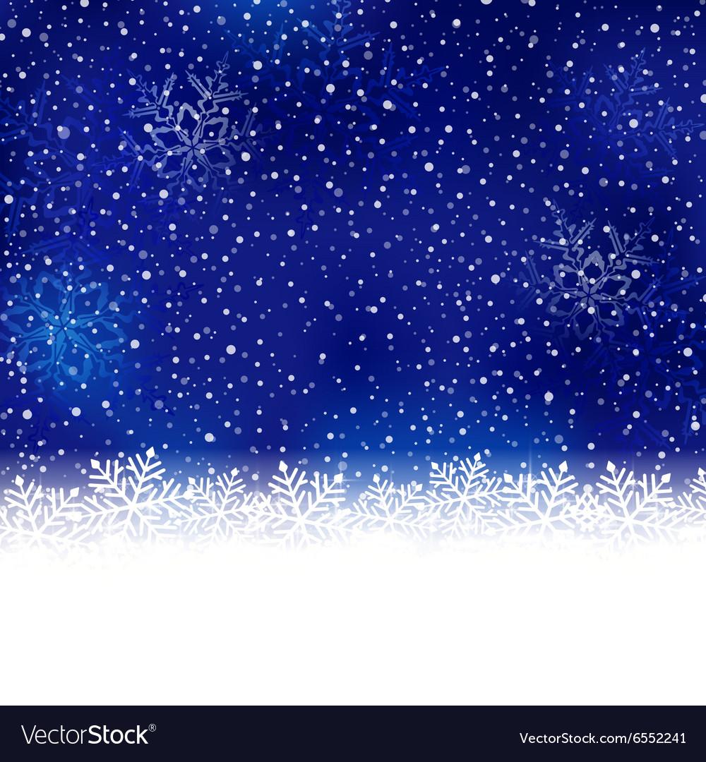 Blue snowflake winter Christmas background