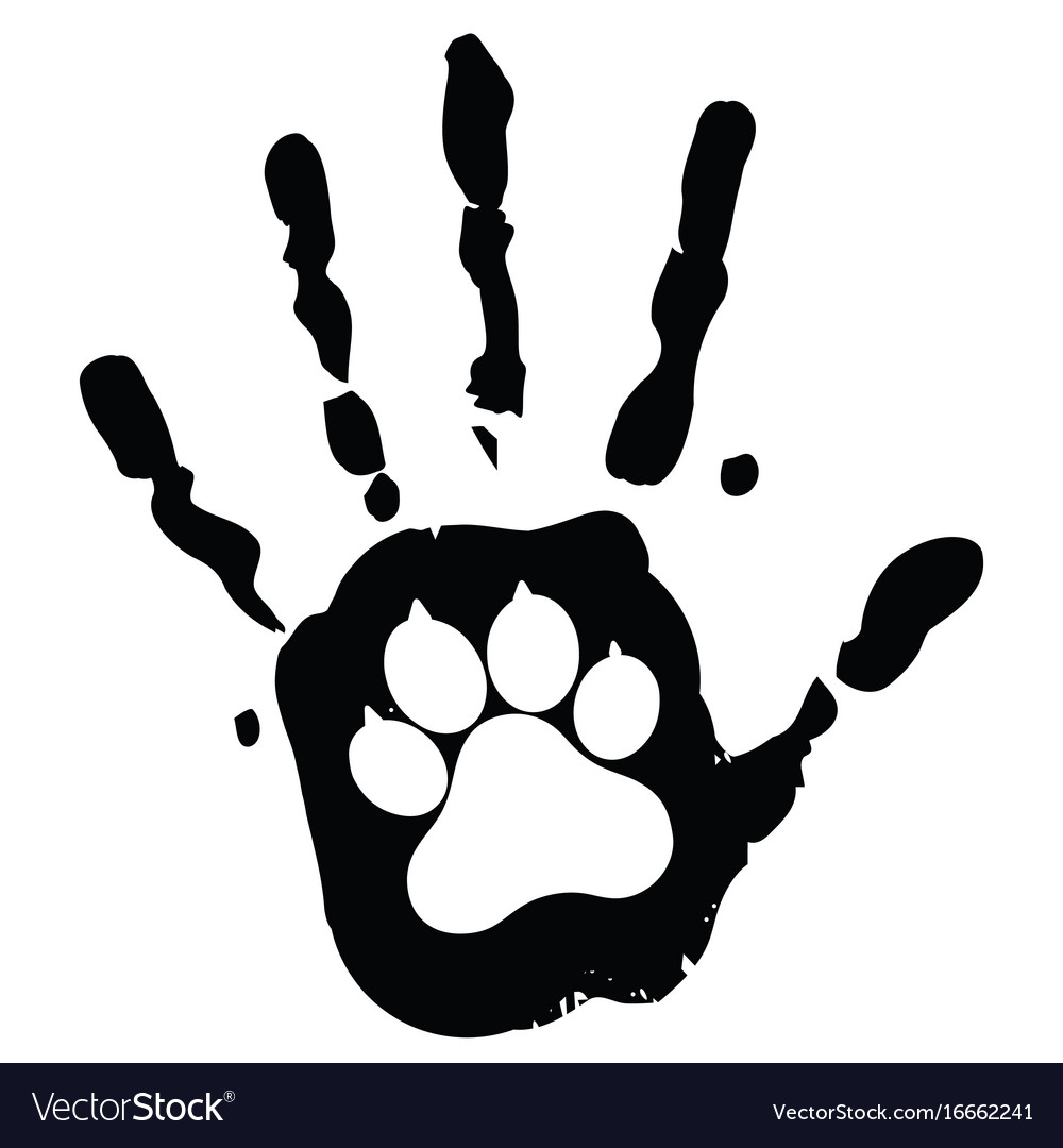 Dog pet animal paw care logo template Royalty Free Vector