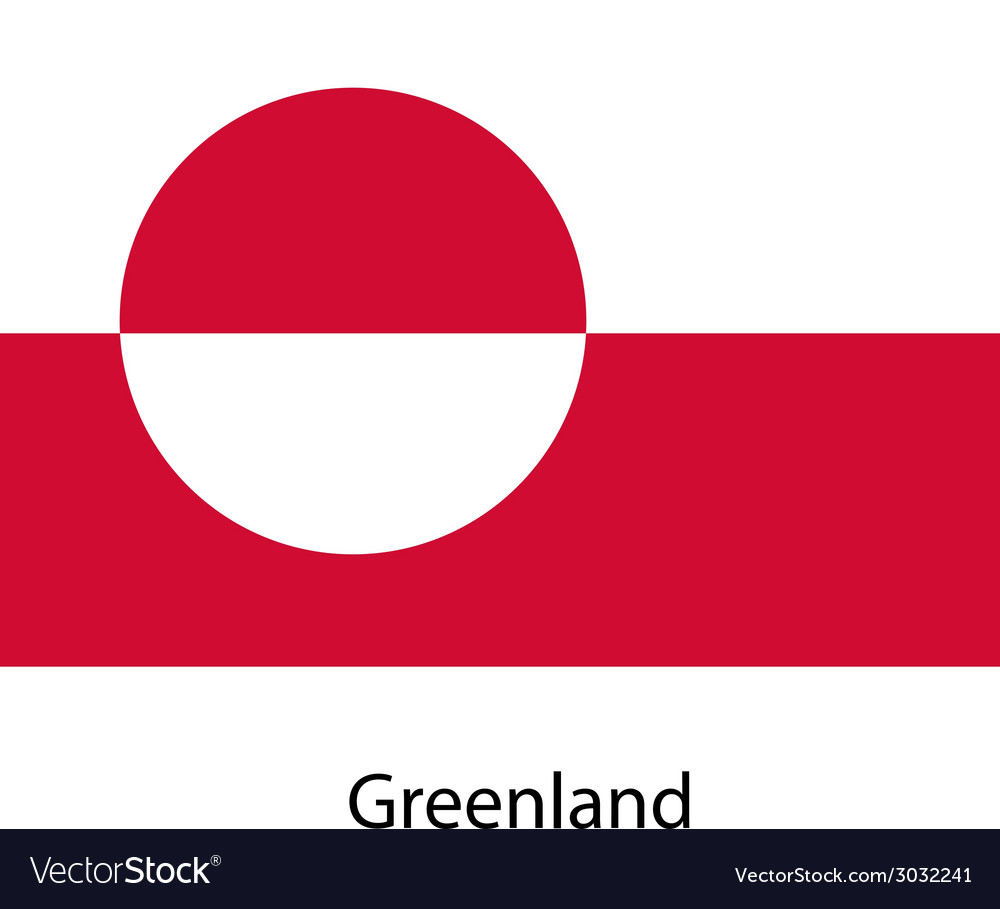 Flag of the country greenland vector image