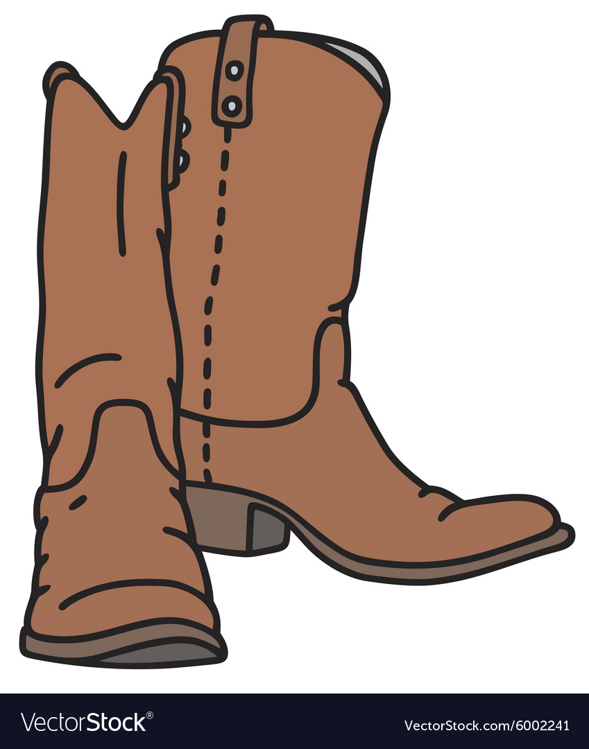 Leather jackboots vector image