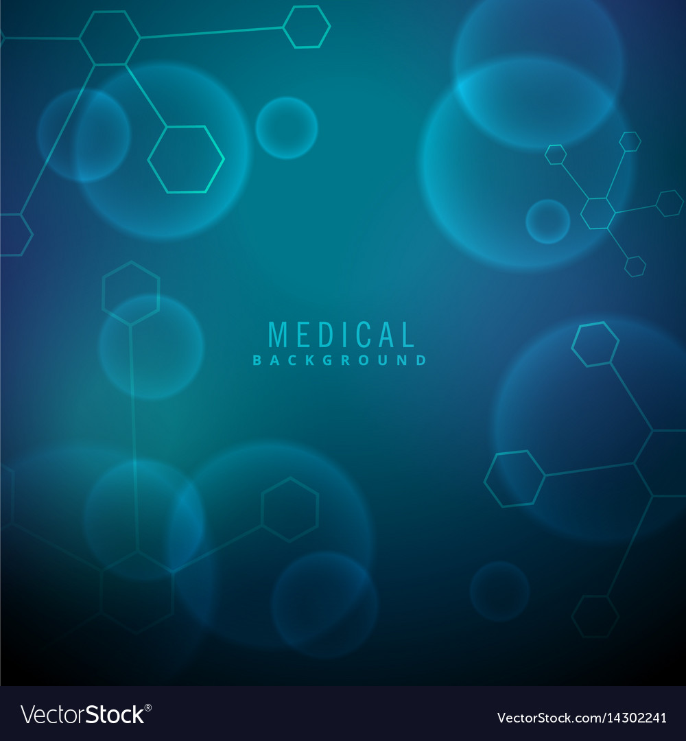 Medical background with molecules and chemical vector image