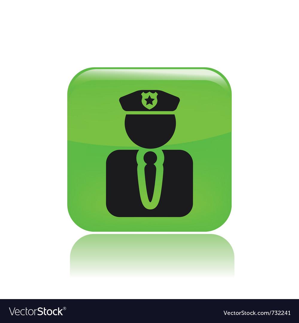 Modern police icon vector image