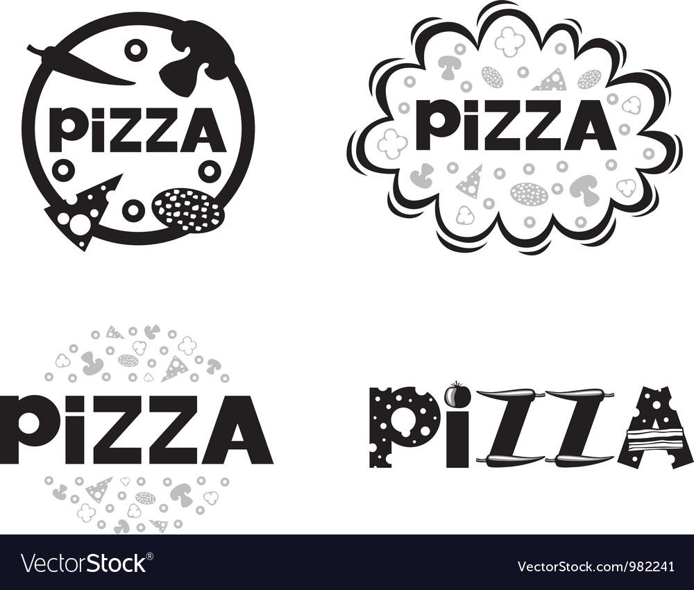 Pizza logo set2 vector image
