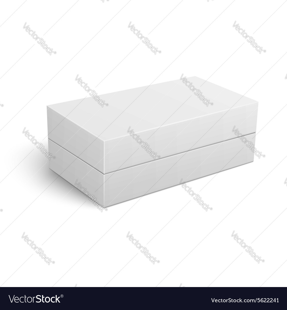 Template of white closed cardboard box vector image